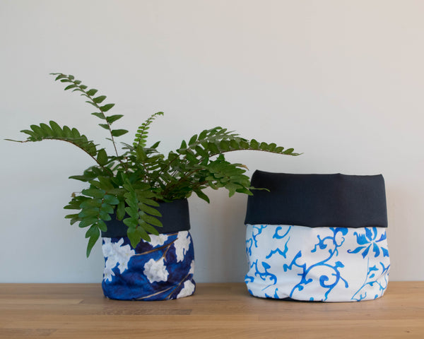 Midnight Blossom and Qing Plant Pots