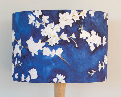 Midnight blossom lampshade
