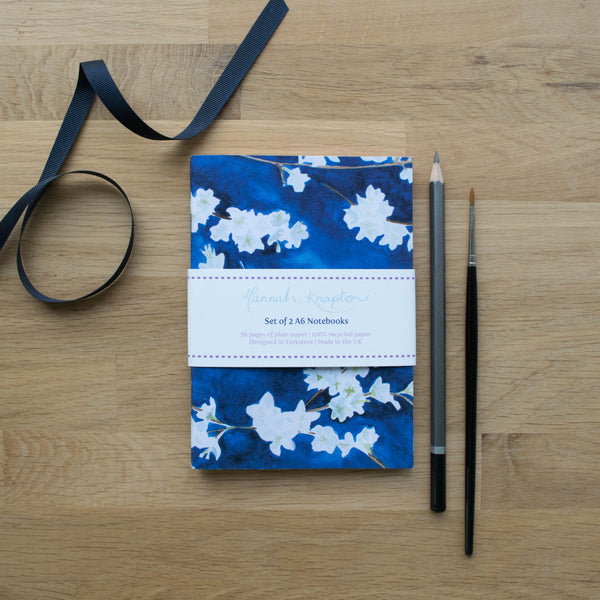 Midnight Blossom Set of Two A6 Notebooks