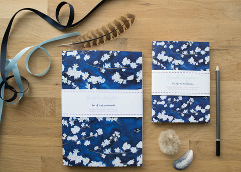 Midnight Blossom A5 and A6 Notebook Gift Set