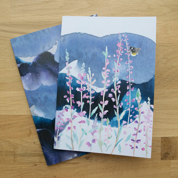 Moorland Heather Set of Two A5 Notebooks