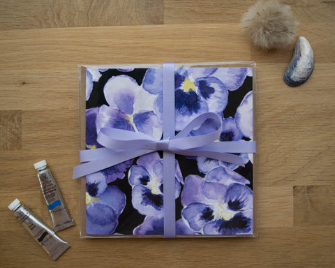 Pansy Card Gift Set