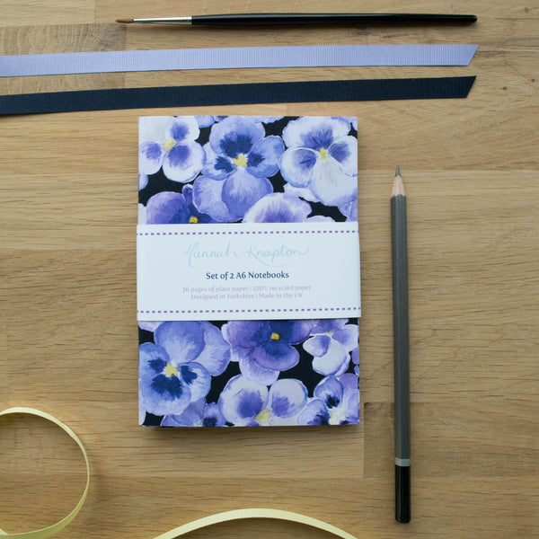 Pansy Notebook Gift Set