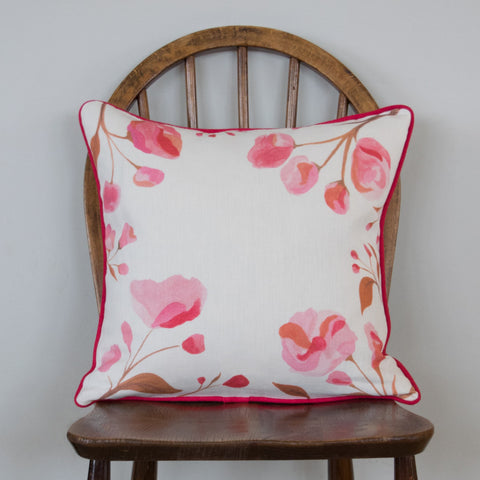 Piped Cherry Blossom Cushion