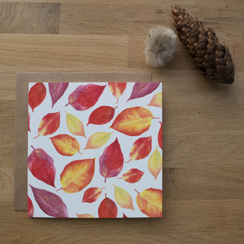 All Over Autumn Leaves Card