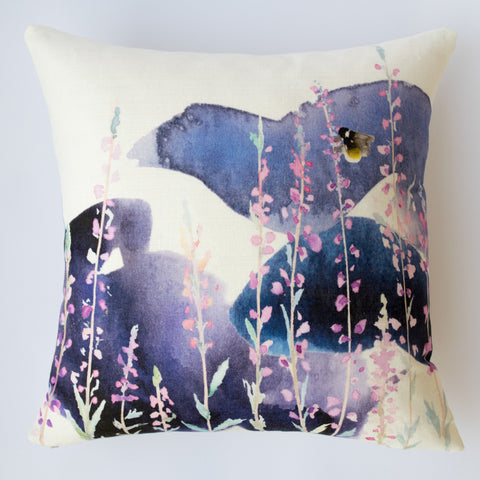 Stormy Heather Cushion