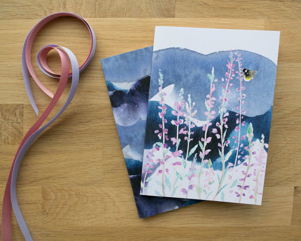 Stormy Heather Set of Two A6 Notebooks