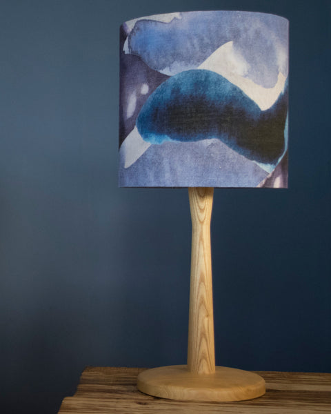 20cm stormy skies lampshade shown on a table lamp