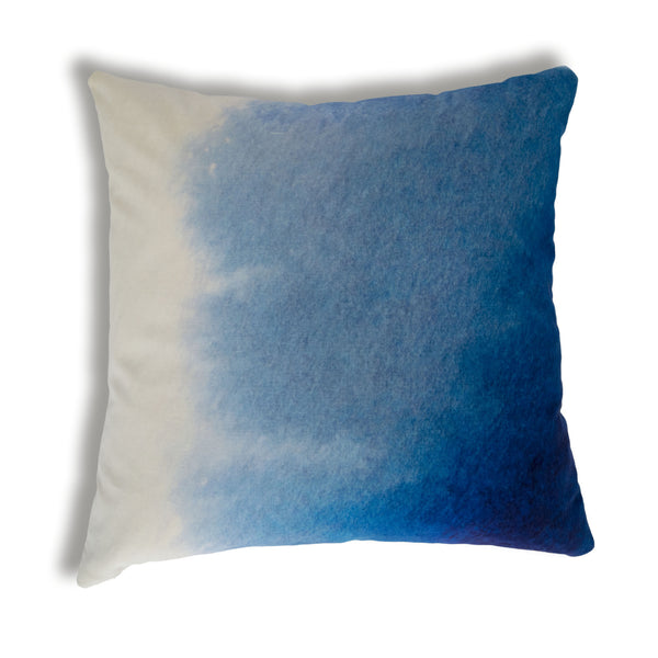Velvet Blue Ombre Cushion