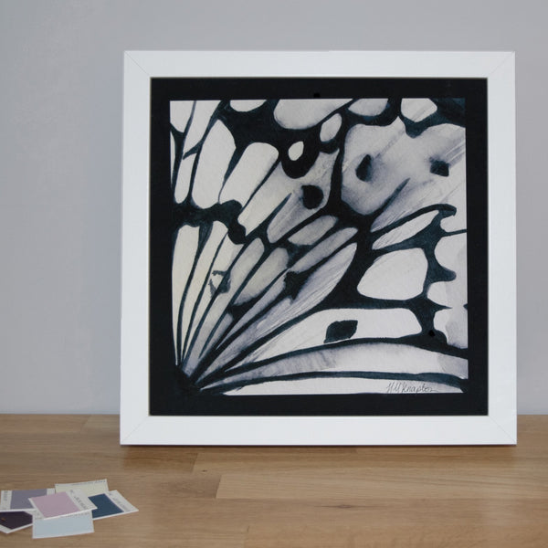Black and White Butterfly Print