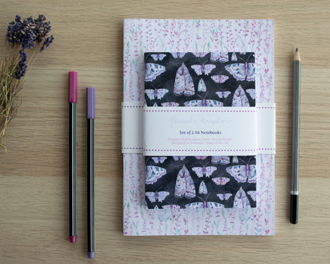 Butterfly and Moth A5 and A6 Notebook Gift Set