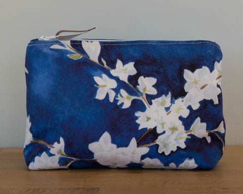 Midnight Blossom Cosmetic Bag