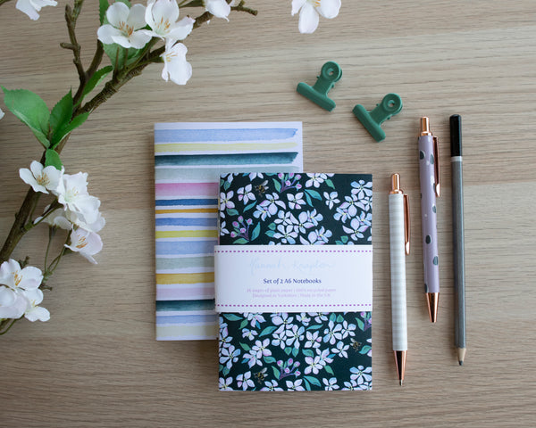 Garden Blossom Set of Two A6 Notebooks