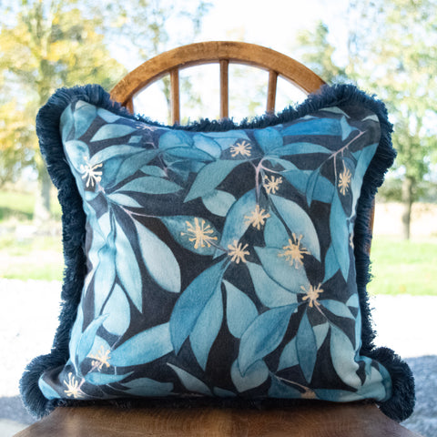 Fringed Ivy Square Cushion