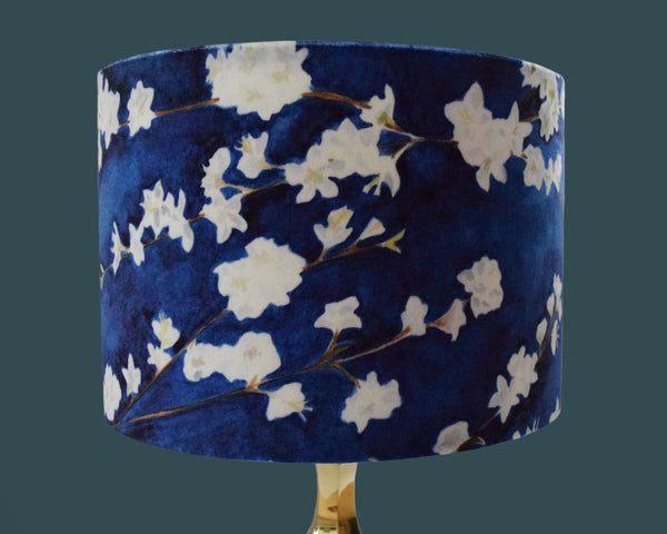 Velvet midnight blossom lampshade