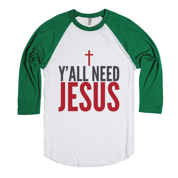 Y'All Need Jesus Long Sleeve T-Shirt (Ide092334)-T-Shirt 2XL