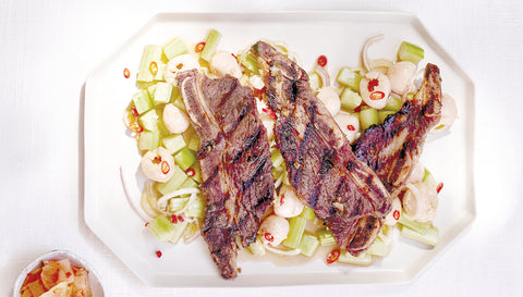 Korean-Style Pear & Soju Marinated Short Ribs