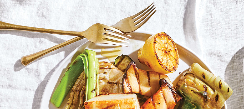 Grilled Halloumi & Garden Vegetables