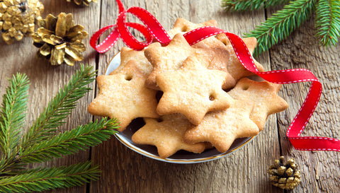 Shortbread cookies, thin and crispy