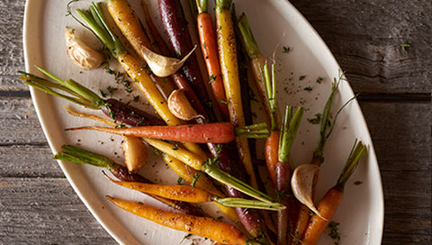 Brown Sugar & Thyme Glazed Heirloom Carrots