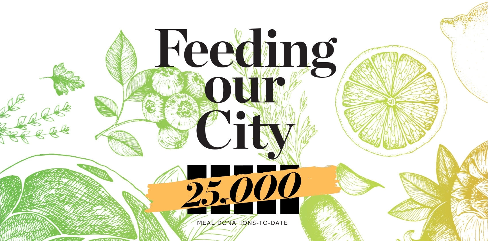 Feeding Our City - 25,000 meal donations to date