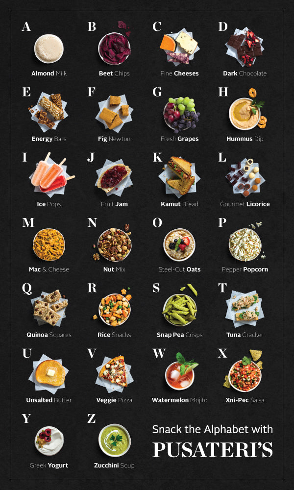 Snack the Alphabet with Pusateri's
