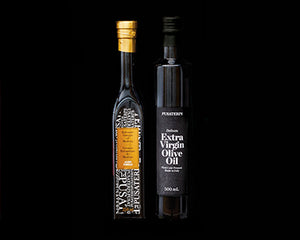 Pusateri's Balsamic vinegar of Modena & Delicato Extra Virgin Olive Oil gift set