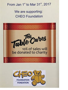 """THIS TABLE CARES"" FOR CHEO FOUNDATION – A GOLDEN PALACE CHARITY INITIATIVE"