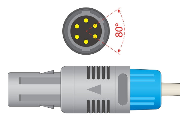 General Meditech, Inc. Compatible Direct-Connect SpO2 Sensor