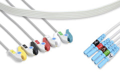 DIN Style Compatible Disposable ECG Leadwirethumb