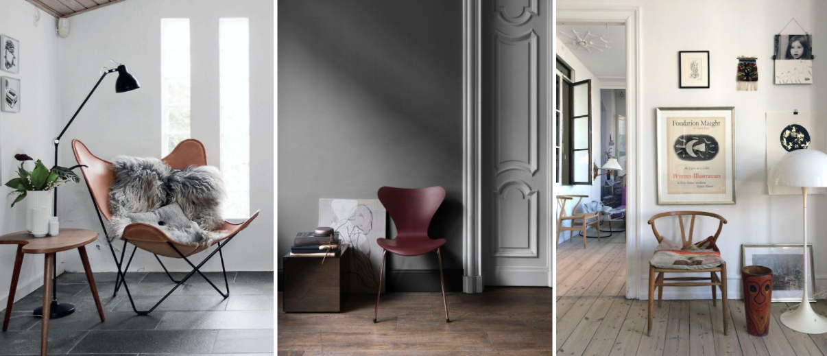 Dänisches Design Stühle - Wishnbone Chair, Arne Jacobsen, Carl Hansen