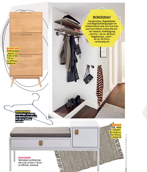 RackBuddy x Couch Magazine - industrial entryway solutions