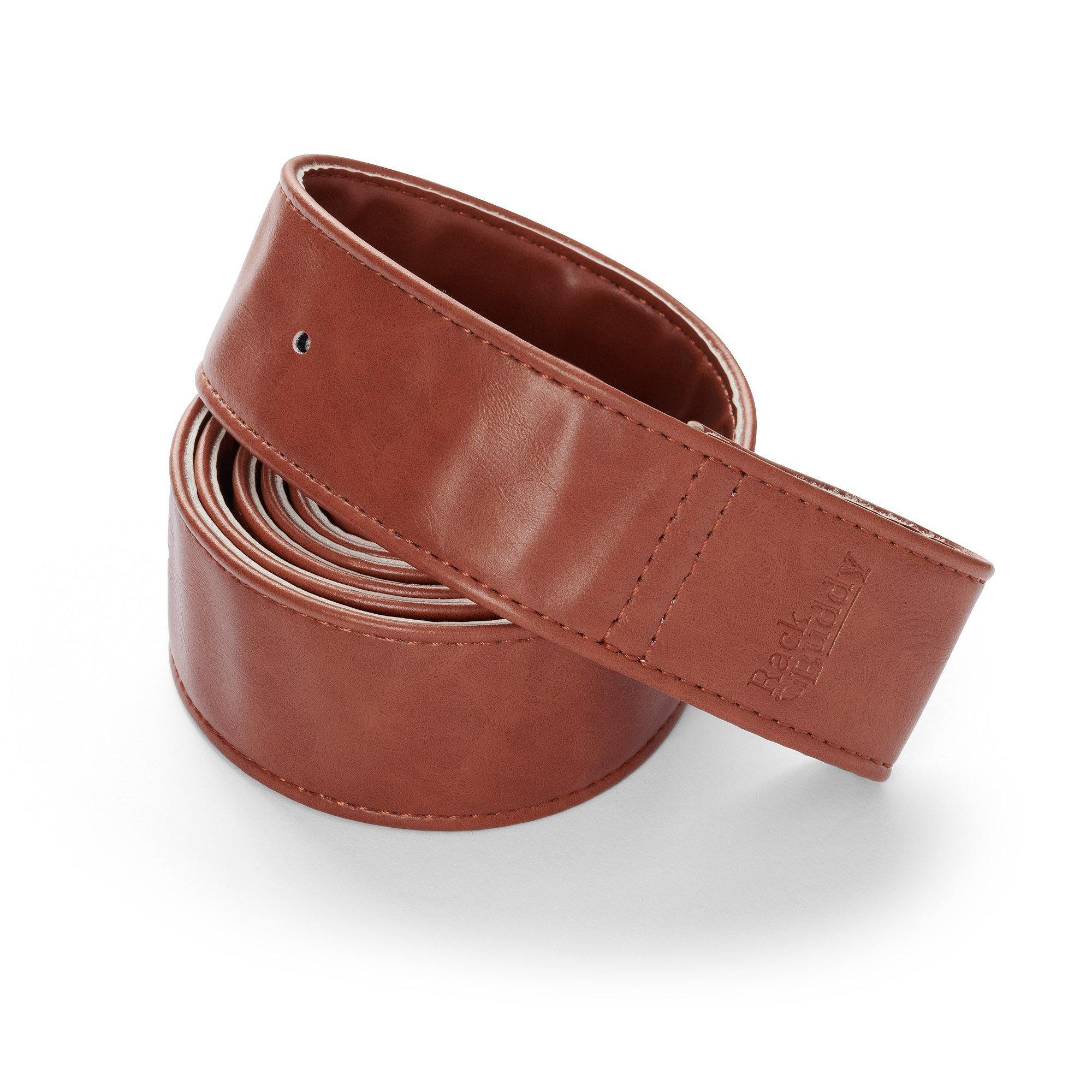 RackBuddy Leatherish - Light brown PU-leather straps