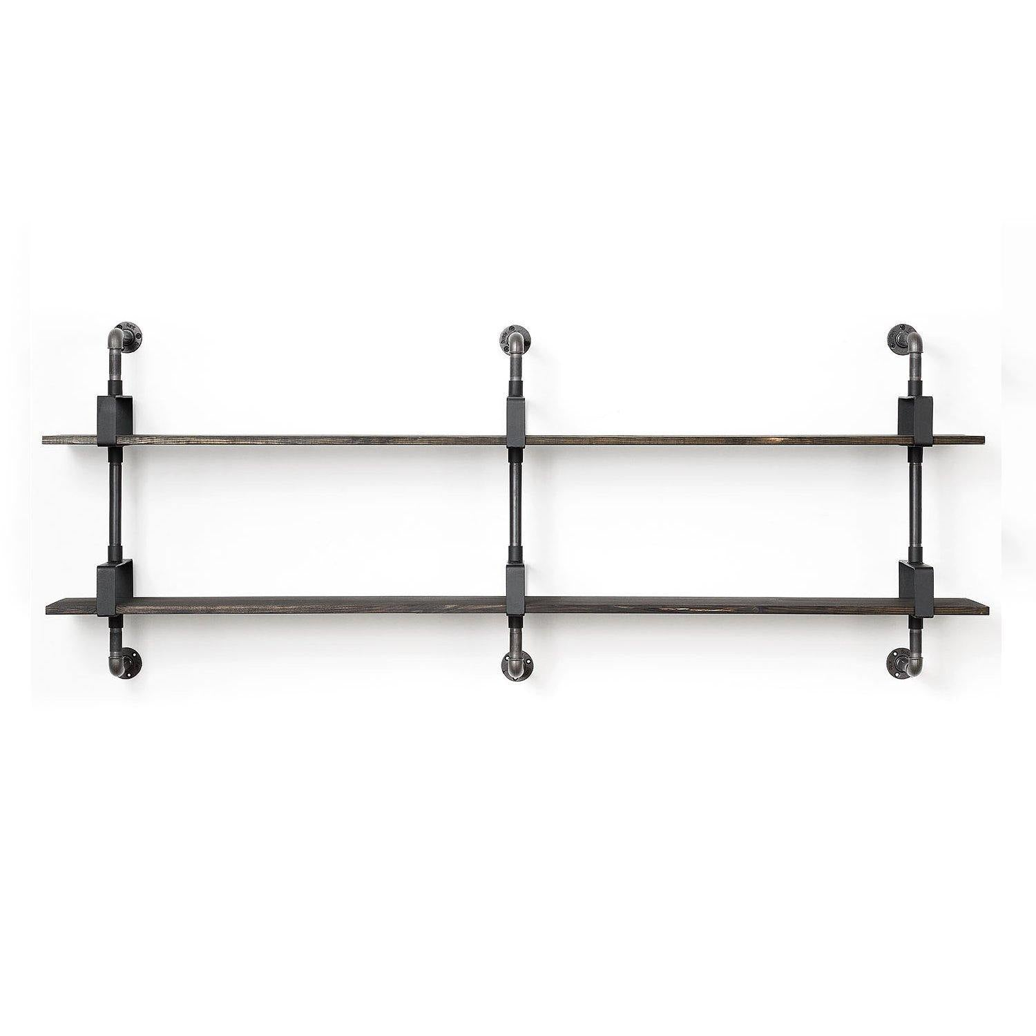 RackBuddy Shelfie - modular shelving system with 3 supports and two shelves