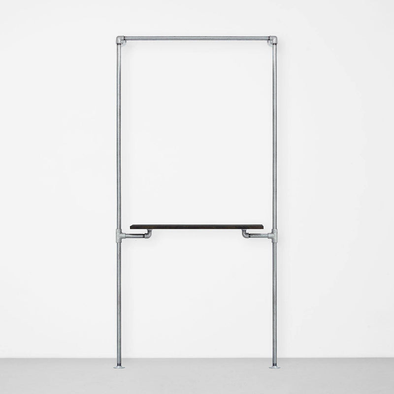 The Walk-In 1 Reihe Kleiderstangen System – (1 Stange & 1 Regal)