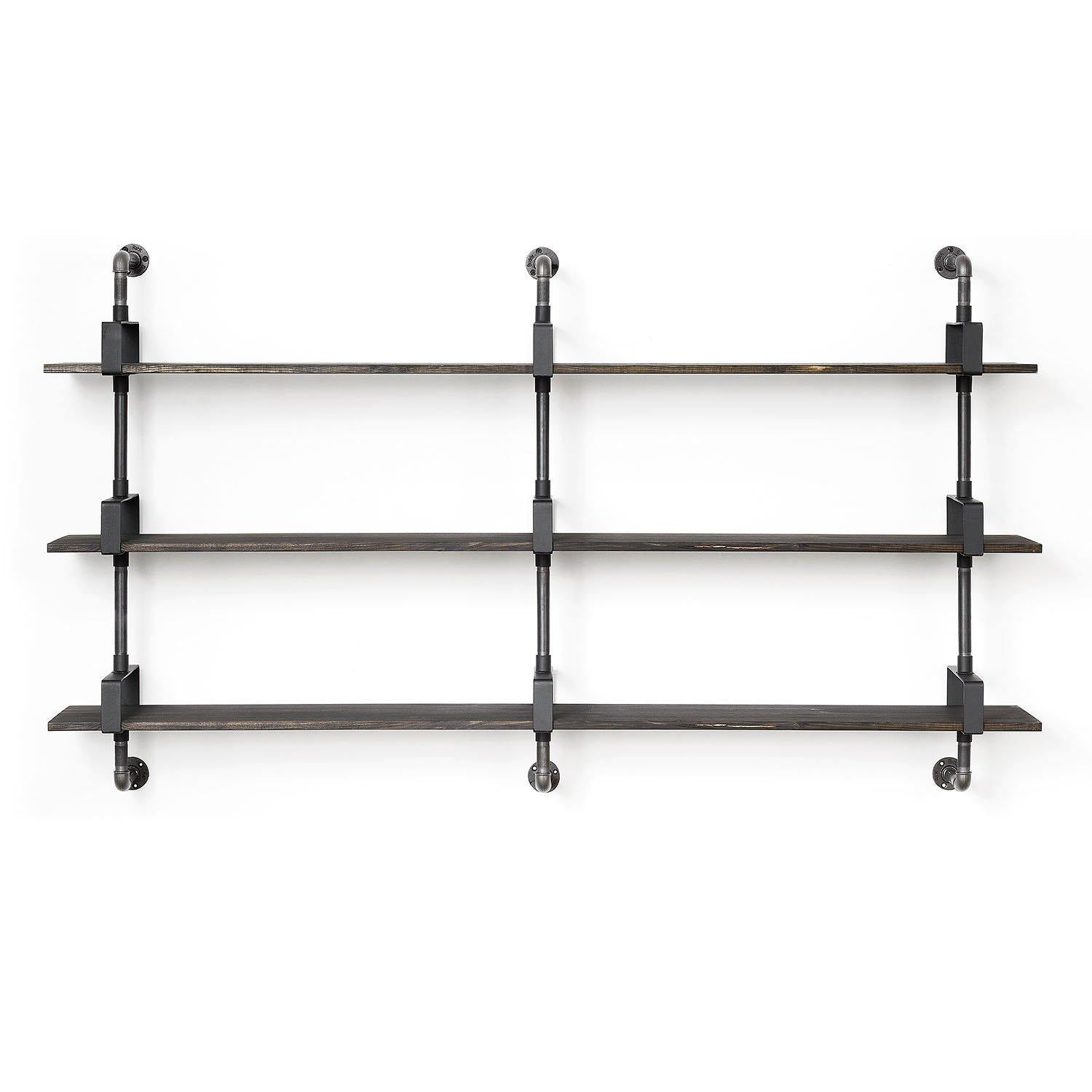 RackBuddy Shelfie - modular shelving system with 3 supports and three shelves