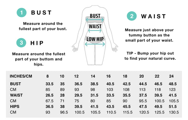 dress sizing chart