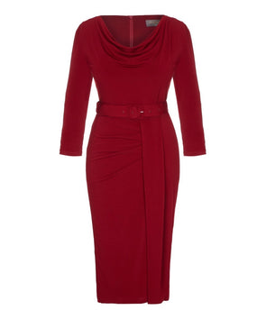 3/4 Sleeve Stretch Luxe Jersey Dress