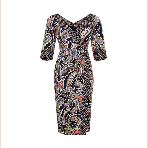 3/4 Sleeve Bombshell 'Bands' Dress In Liberty Print Fabric