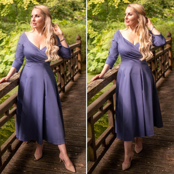 Heron Bombshell 'Edge Of The Shoulder' Midi Dress