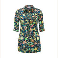 The Bombshell 'Tie Both Ways' shirt - Tree of Eden print in green
