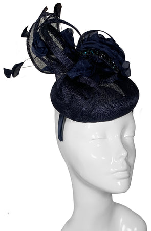 The Bombshell Pillbox Hat Navy
