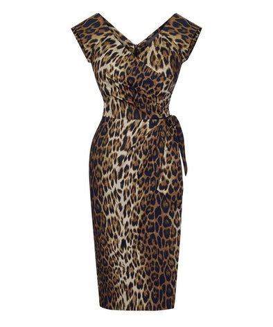 Leopard Confident Bombshell Cap Sleeve Dress | Mother of the Bride Wedding Guest Dress