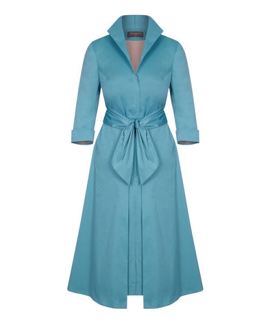 Sea Green Grace Tie Front Shirt Dress