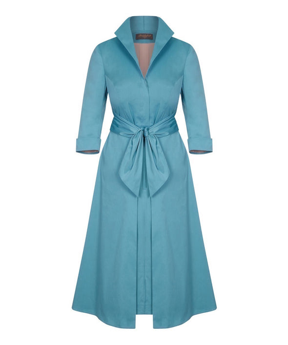 Sea Green Grace Tie Front Shirt Dress | Mother of the Bride Wedding Guest Dress