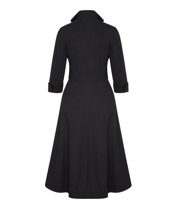 Black Grace Tie Front Shirt Dress
