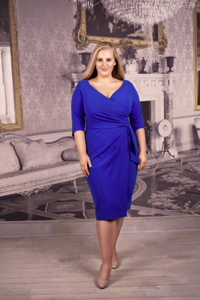 "Bright Blue  ""Edge of the shoulder fit"" Confident Dress"