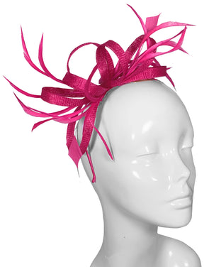The Bombshell 'Finishing Touch' Fascinator Hot Pink