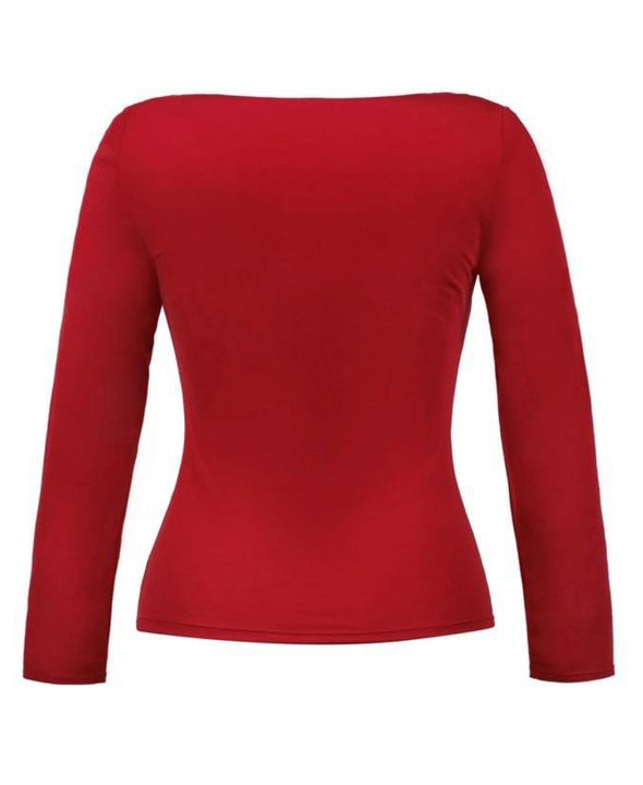 Red Sweetheart Top Back