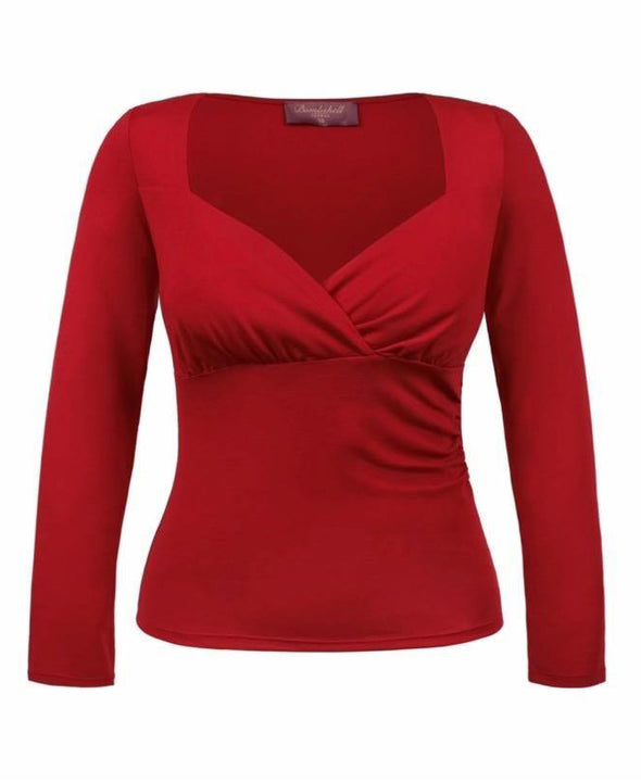 Red Sweetheart Top Front